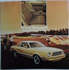 Ford Mustang II 1976 ORIGINAL FOLLETO de ventas de gran formato Prospekt Catálogo
