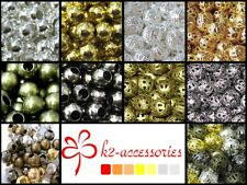 BUY 3 GET 3 FREE 2mm 3mm4mm 6mm 8mm Plated Iron Metal Spacer Beads