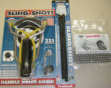 TRUMARK SLINGSHOT MODEL FS-1 ROCKET WRIST W/RR2 BAND W/SA30 AMMO PACKAGE