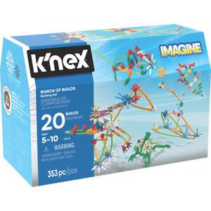 K'Nex Building Set Imagine Bunch of Builds 353 Piece Chest Ages 5+