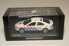 A2 1:43 MINICHAMPS VOLVO S60 S 60 DUTCH POLICE POLITIE MINT BOXED