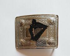 TC Men's Kilt Belt Buckle Irish Harp/Scottish Celtic Border Kilt Belt Buckle