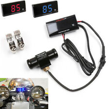 Blue LCD Motorcycle Cooling Water Thermometer Temperature Gauge Sensor Adapter