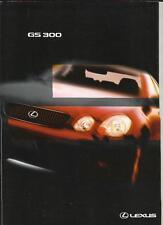 LEXUS GS 300 SALES BROCHURE OCTOBER 1998 FOR 1999 MODEL YEAR
