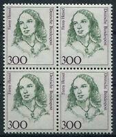 Bund Nr. 1433 sauber postfrisch Viererblock VB BRD Frauen 1998 ungefaltet MNH