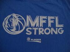 NBA Dallas Mavericks Mffl Strong 2014 Playoffs blue T Shirt XL
