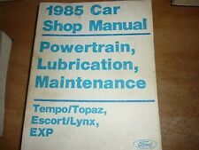 1985 Ford Escort Exp Lynx Tempo Mercr Topaz Shop Manual