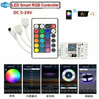 LED SMART WIFI RGB LED STRIP LIGHT CONTROLLER Music Timer For Alexa Google Home