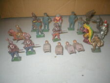 """Vintage Lead and Cast Iron Train Figures Lot of 19 Pieces 2"""" Tall"""