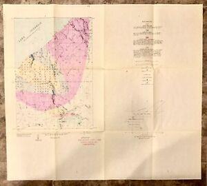 Vintage 1968 Thomaston NW, Gogebic Co. MI Geological Copper Range Co. Survey Map