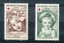 STAMP / TIMBRE FRANCE NEUF  N° 1366/1367 CROIX ROUGE