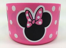 BTY 3 Inch Disney Pink Minnie Mouse Grosgrain Ribbon Hair Bows Lisa