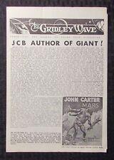 1964 The Gridley Wave #14 Vg/Fn 5.0 John Carter - Edgar Rice Burroughs 8pgs