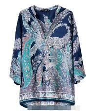BNWOT Zara paisley tunic blouse
