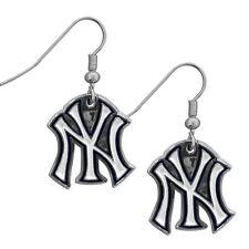 New York Yankees Dangle Earrings (Chrome) Licensed MLB Jewelry