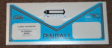 SILVERBALL MANIA Pinball Apron Decal Set LICENSED