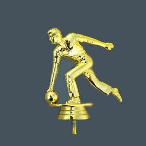 Bowling-Pokal (Herren) auf schwarzem Marmorsockel mit Ihrer Wunschgravur