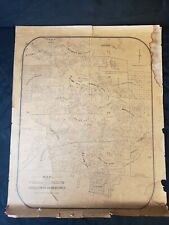 CRIPPLE CREEK COLORADO MINING DISTRICT PROPERTIES CLAIMS MAP TIMES-RECORD PRINT