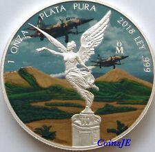 2018 Mexico Libertad 1oz .999 Silver Military Edition Colorised Silver coin