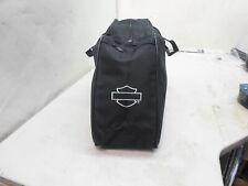 Harley Davidson Motorcycle Black Canvas Saddle Bag Travel Insert Luggage