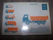 8D - Manuel Mercedes Benz des directives de carossage de camions 1977