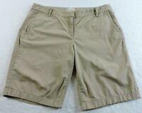 J. Crew Womens 10 Bermuda Beige Tan Classic Casual Shorts