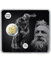 """Pièce 2 euros commémorative FRANCE 2017 - """"Auguste Rodin"""" - Qualité BU"""