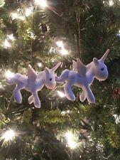 1982 E-2371 2x Precious Moments Unicorn Ornaments