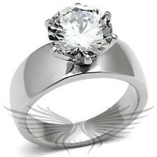 4c ROUND SOLITAIRE ENGAGEMENT RUSSIAN LAB CREATED SIM DIAMOND WEDDING RING TK520