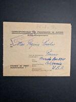 Fresno California WW2 PoW Cover German Prisoner held in PoW Camp Censored