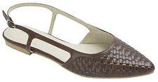 AnnaKastle New Womens Woven Emboss Slingback Flat Shoes US 5 6 7 8