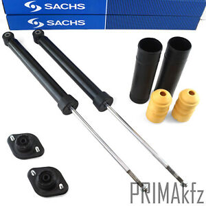 2x SACHS 556 882 Shock Absorber Rear + Buffer Strut Mount BMW 3er E36 E46