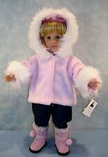 18 Inch Doll Clothes Pink Fur Trimmed Jacket handmade by Jane Ellen