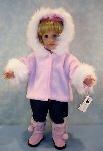 18 Inch Doll Clothes Pink Fur Trimmed Jacket handmade by Jane Ellen