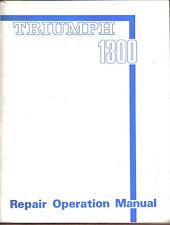 Triumph 1300 Original Repair Operation Manual (Workshop Manual) No. 512908/E2