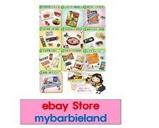Re-ment Full Set of 10 GROCERY SUPER MARKET Barbie Size Miniature Food VHTF RARE