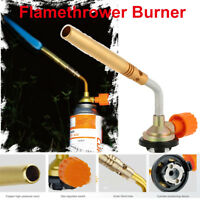 Flamethrower Burner Butane Gas Blow Torch Ignition Camping Welding BBQ Tool New