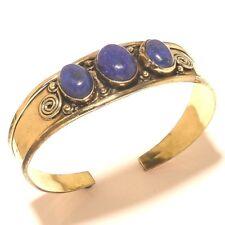 Amazing Tibetan Silver Brass Lapis Lazuli Cuff Bracelet Bangel Gemstone Jewelry