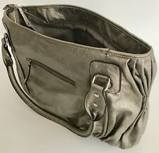 "GAL 17"" pewter tote iPad carrier large metallic trendy 13"" padded for laptop zip"