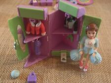 Polly Pocket Girl Doll Clothes Outfits Cheerleader Locker Lot Excellent! K17