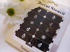 Nail Art Diecut Stencil Guide Christmas Snowflake Tree Tip Manicure Stickers S06
