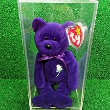 Perfect 1997 Ty Beanie Baby Princess Bear Indonesia PVC No Space & Canadian Tush