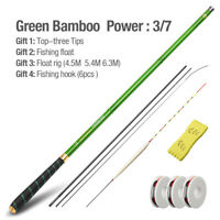 Ultra Light Telescopic Fishing Rod Stream Carp Carbon Fiber Hand Pole 3.6M-7.2M