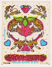 Vintage 80's Illuminations Scratch n Sniff Strawberry Unicorn Sticker Mod