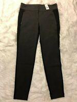 NWT ANN TAYLOR LOFT Charcoal Gray Black PONTE LEGGINGS size 4 Skinny  NEW C20