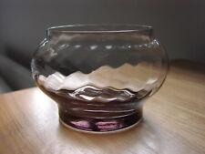 "Wedgwood Glass Frank Thrower Design  ""Tara"" Optic Flower Bowl  FJT86 8.5 cm"