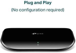 TP-LINK TL-SG1005D V6 5-Port Gigabit Ethernet 10/100/1000 Mbps Desktop Switch UK