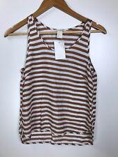 H&M Brown Striped Tank Top Size 2