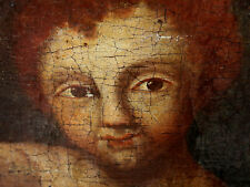 ÖL GEMÄLDE ANTIK BAROCK ? MARIA MIT JESUS KIND mother Mary with Christ baby old