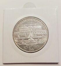 """10 Euro Österreich 2003 """"Schlosshof"""" stgl. 925 Silber Ag, im Rähmchen"""